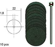Sierra ModellSport - Discuri Corundum D22 mm cu ax (10 buc)