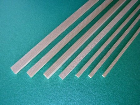 Sierra ModellSport - Bagheta dreptunghiulara brad 6 x 6 x 1000 mm