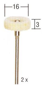 Sierra ModellSport - Cap tip disc din pasla pentru slefuire (2 buc)