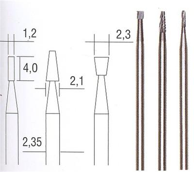 Sierra ModellSport - Freze Vanadium (3 buc forme diferite)