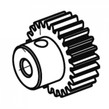 Motor gear 22Z. 48DP BL 3.17 mm