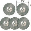 Perii din otel slefuire/ curatare D22 mm (5 buc)