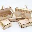 Cutie bijuterii personalizata din lemn 140 x 70 mm