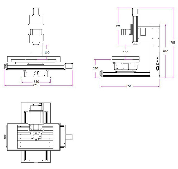 Sierra ModellSport - Freza (router) 5 axe 600 x 400/ 2200W/ racire cu apa