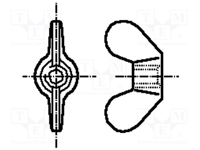 Sierra ModellSport - Piulita fluture M5 (2 buc)