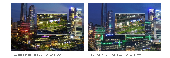 Drona DJI PHANTOM 4 ADVANCED - Image comparisons